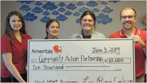 Ameritas provides $10,000 to support Community Action Partnership's Early Head Start and Head Start Programs